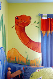 14 best dinosaurs small bedroom ideas images on pinterest kids a friendly dinosaur mural and cloud ceiling to compliment the company kids bedding and curtains