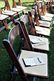 Wooden Wedding Chairs Elegant Brown Wood Folding Chairs Outdoor Wedding Ceremony