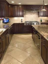 what color tile goes with brown cabinets 80 alluring kitchen floor ideas you must 2018