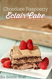 no bake chocolate raspberry eclair cake u2013 six sisters u0027 stuff