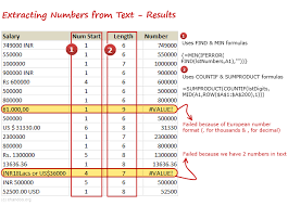 Count Number Of Words In Excel Extract Numbers From Text In Excel How To Tutorial Chandoo