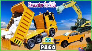 excavator videos for children trucks for kids construction