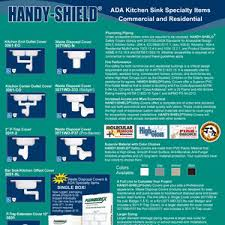 ada under sink pipe insulation handy shield ada kitchen sink specialty items commercial