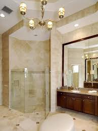 Stand Up Chandelier Corner Shower Ideas With Chandelier And Washing Stand Also Mirror