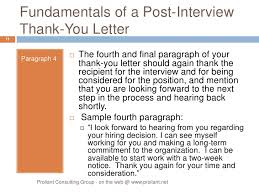 collection of solutions thank you letter after interview case