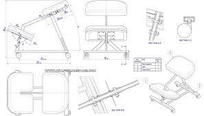 Rocking Chair Drawing Plan Kneeling Chair Plans