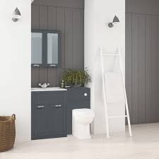 Bathroom Combination Furniture by 600 Grey Combination Unit With Park Royal Back To Wall Toilet