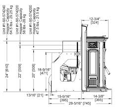 Fireplace Insert Dimensions by Harman Accentra 52i Fireplace Earth Sense Energy Systems
