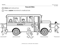bus safety worksheets google search health activities