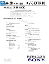 download free pdf for sony kv 32s22 tv manual