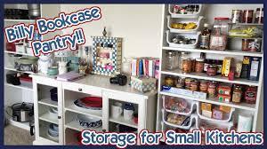 billy bookcase pantry storage u0026 tour youtube