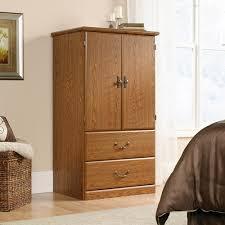 jewelry armoire oak finish sauder orchard hills armoire carolina oak finish walmart com