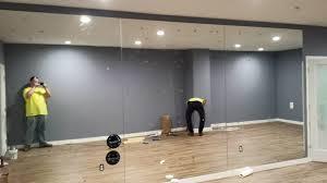 custom mirror wall for a health club near atlanta roswell and sandy springs georgia