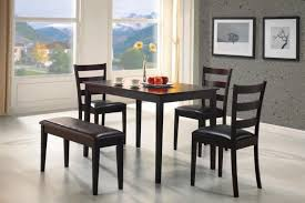 black dining table with bench black dining table set with pict ideas