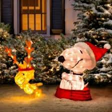 product works decorative peanuts soft tinsel snoopy with woodstock