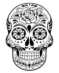 printable dead sugar skull coloring 3 printable