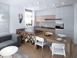 deco cuisine gris et blanc cuisine en bois blanc affordable cuisine ouverte bois blanc