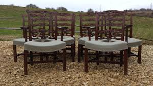antique dining chairs sets of 10 hares antiques