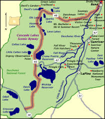 map of hwy 58 oregon cascade lakes scenic byway oregon