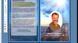 memorial program templates simple steps for addition of photo oval frame funeral templates in