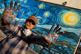 viewfromaloft murals muralist rip cronk returned to venice beach in march 2012 touch up his 1990 work