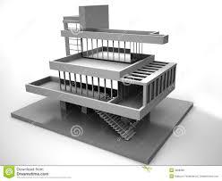3d blueprint house stock photography image 11682302