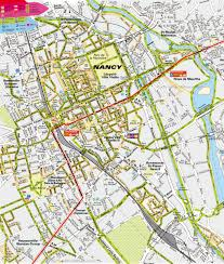 Annecy France Map by Nancy City Center Map