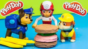 paw patrol nickelodeon paw patrol play doh burger play doh toys