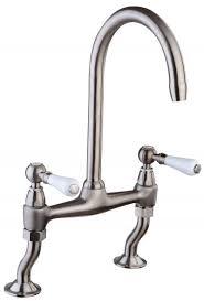 Traditional Kitchen Taps Uk - mayfair kit215 provencale brushed kitchen mixer tap brushed nickel