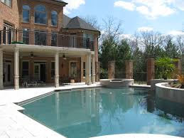 outdoors house plans with pools using bold soften nuance full size outdoors two leveled house architecture design swimming pool ideas located under backyard among