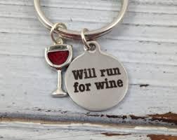 Wine Glass Keychain Wine Keychain Etsy