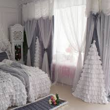 valance grey cloth and tulle curtains luxury handmade cortinas