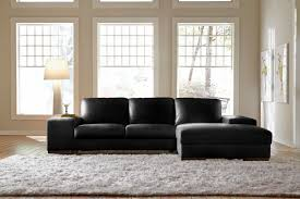 Sleeper Sofas For Small Spaces Black Leather Sectional Sleeper Sofa With Wide Chaise Louge Built
