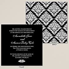 Black And White Wedding Invitations Black And White Wedding Invitations