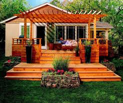 Backyard Deck Plans Pictures by Natural Burlywood Awesome Deck Ideas Entrancing Pretty Backyard