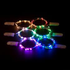 10 mini light string china multi color 1m 10 led 2032 battery operated copper wire mini