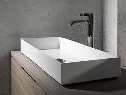small rectangular vessel sink amazon com concrete rectangle vessel sink curvy bowl handmade
