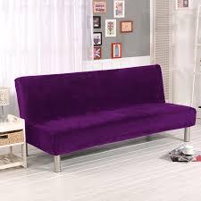 canape violet pas cher stretch housse de canapé élastique sans bras canapé couverture