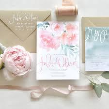 watercolor wedding invitations floral wedding invitations brides