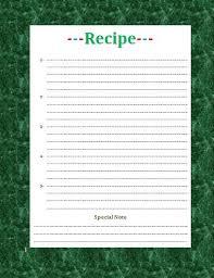 microsoft recipe template