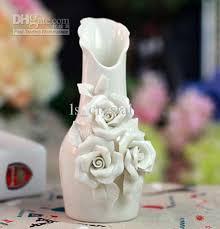 Blue Vases Cheap Elegant White Ceramics 3 Rose Vases Cheap Discount Cylinder Vases