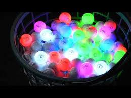 light up golf balls night eagle cv timer less led golf ball youtube
