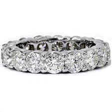 white gold eternity ring 5ct prong diamond eternity ring 14k white gold jewelry