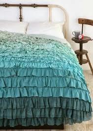 aqua ruffle comforter glamorous ombre ruffle bedding 91 in trendy duvet covers with