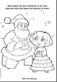 remarkable dora christmas coloring pages printable with dora