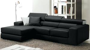 canap angle convertible noir canape d angle convertible cuir noir lit canapac blanc couchage 140