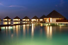 adaaran prestige water villas night view exterior maldives
