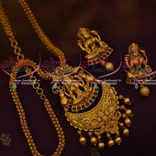 antique necklace chains images Cs11757 matte gold plated temple jewellery chain pendant latest JPG