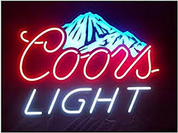 coors light sign amazon coors light mountain neon signs 17 w x 14 h inch neon lights made