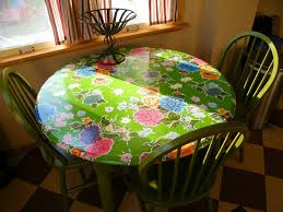 how to cover a table soduel fitted oil cloth table slipcover mini tutorial